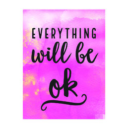Juliste Everything will be ok