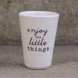 Enjoy the little things -latte
